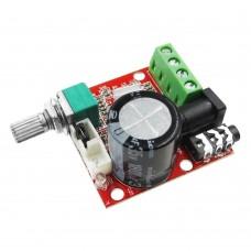Усилитель с регулировкой D-класс, PAM8610, 2х10Вт
