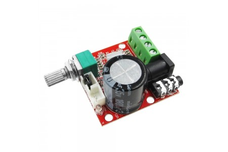 Amplifier with adjustable D-class, PAM8610, 2x10W