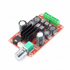Amplifier with adjustable D-class, TPA3116D2, 2x50W