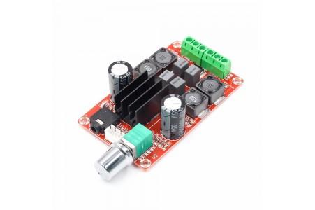 Amplifier with adjustable D-class, TPA3116D2, 2x50W