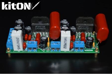 LM3886 original, stereo amplifier