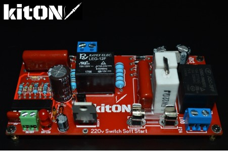 Soft start + turn on by low-power button without fixing 220V